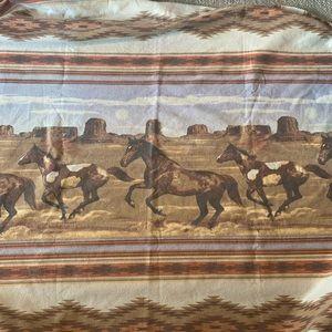 Vintage Southwestern Wild Horses Blanket Throw